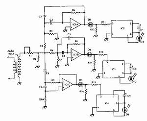 Schematic Diagram Lm3909 Ic Color Organ Electronic Project