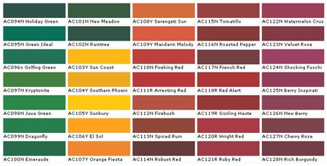 interior paint color charts home painting