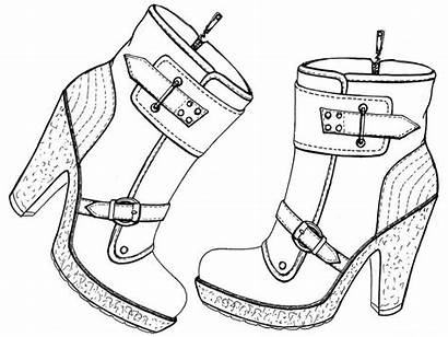 Coloring Pages Shoes Shoe Converse Boots Nike