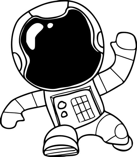 astronaut clipart black and white clipart spaceman 4