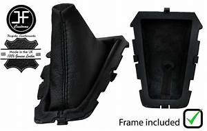Black Stitch Leather Manual Shift Boot   Plastic Frame For