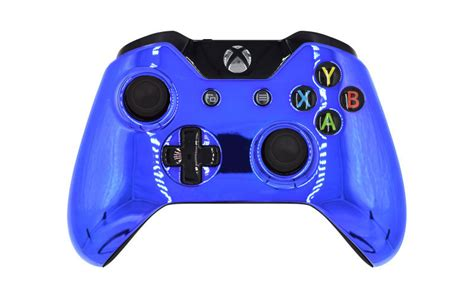 modded xbox  rapid fire controller chrome blue