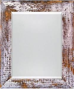 Spiegel Weiß Holzrahmen : besonderer spiegel wei schwarz 5cm facette ~ Indierocktalk.com Haus und Dekorationen