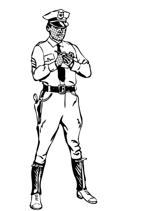 policeman with gun clipart black and white officer clipart free stock photo domain
