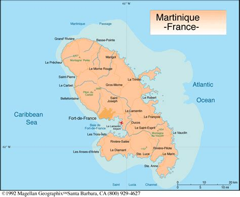 Martinique Carte Monde by Martinique Carte Populationdata Net