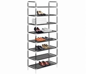 Range Chaussure Metal : vidaxl range chaussures avec 8 tag res m tal et tissu non tiss noir ~ Teatrodelosmanantiales.com Idées de Décoration