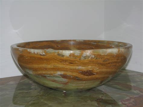 14 Quot Green Onyx Contemporary Round Vessel Style Bathroom Sink