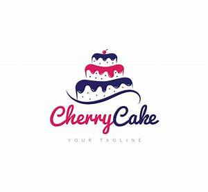 Cherry Cake Logo & Business Card Template - The Design Love