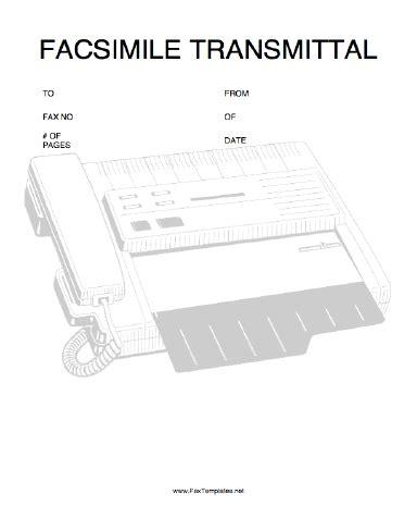 transmittal fax template
