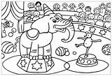 Circus Coloring Pages Children Printable Simple Print Sheet sketch template