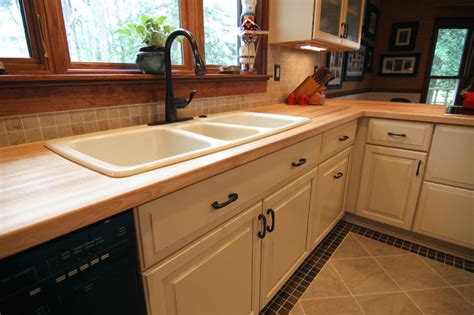 pictures of islands in kitchens 3 basin sink in butcher block counter top contemporary 7459