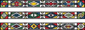 Set of traditional african ndebele patterns - vector