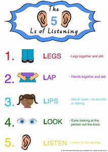 5 Ls Of Listening  Designed To Be Used In Classrooms