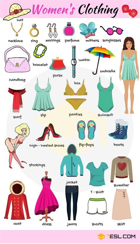 clothes vocabulary names  clothes  english