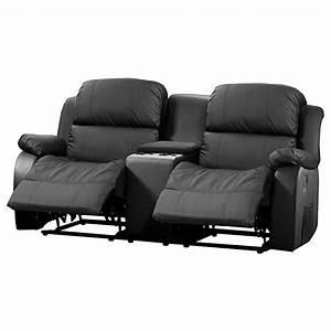 Relaxsofa 2 Sitzer : sofa mit tea table lakos 2 sitzer kinosofa in schwarz mit relaxfunktion ebay ~ Watch28wear.com Haus und Dekorationen