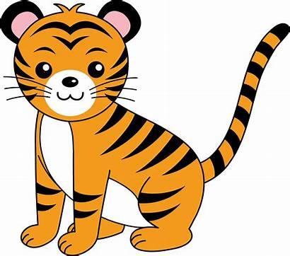 Clip Clipart Animals Animal Forest Clipartix Tiger