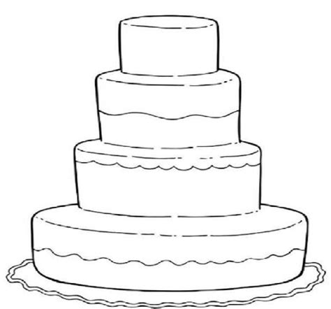 wedding cake coloring pages  kids party projects