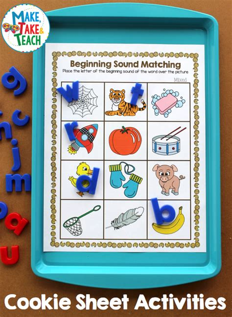 cookie sheet activities  beginning sounds