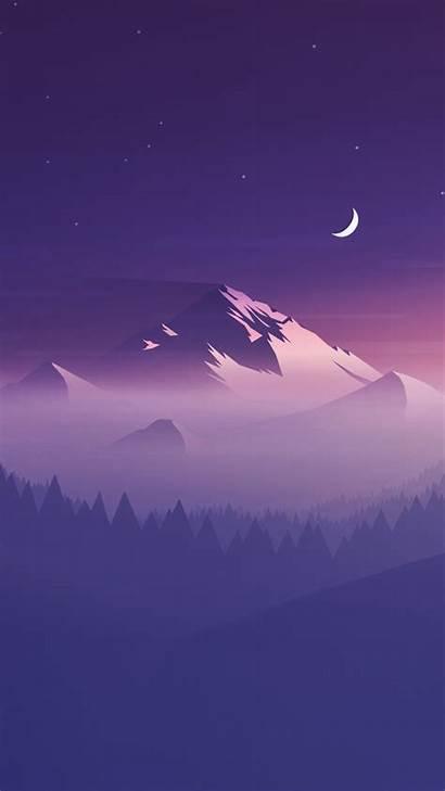 Minimalist Iphone Wallpapers Night Landscape Phone 4k