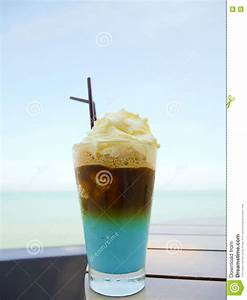 Iced Coffee With Whipped Cream Stock Photo - Image: 72337564