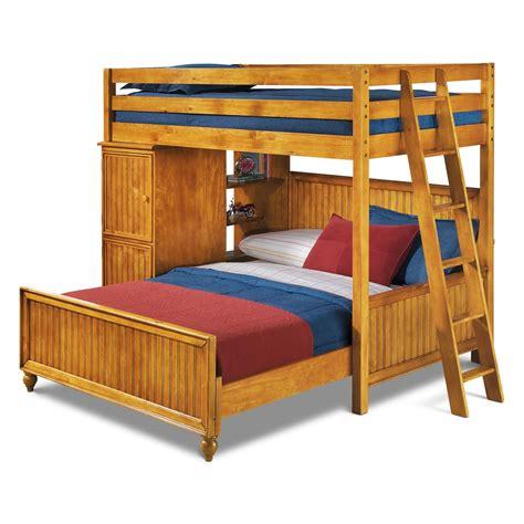 loft bed colorworks loft bed with bed honey pine value