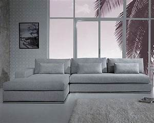 modern light grey fabric sectional sofa 44l6096 With modern light grey fabric sectional sofa