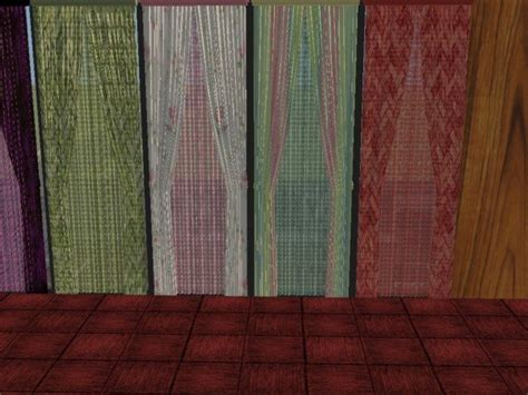 mod the sims and single wide curtains with