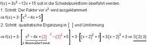 Quadratische Funktionen Scheitelpunkt Berechnen : quadratische funktionen i ~ Themetempest.com Abrechnung