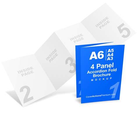8 Page Accordion Fold Brochure Mockup Cover Actions 8 Page A6 Accordion Fold Brochure Mockup Cover Actions