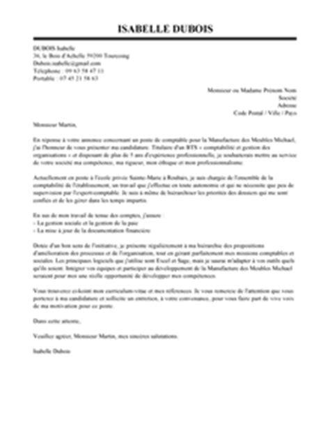 modele lettre de motivation stage comptable assistant document
