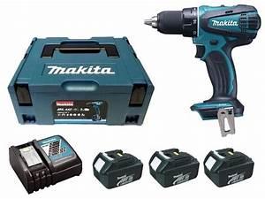 Visseuse Makita 18v 4ah : perceuse visseuse 18 v li ion 3 ah 13 mm 3 batteries ~ Dailycaller-alerts.com Idées de Décoration