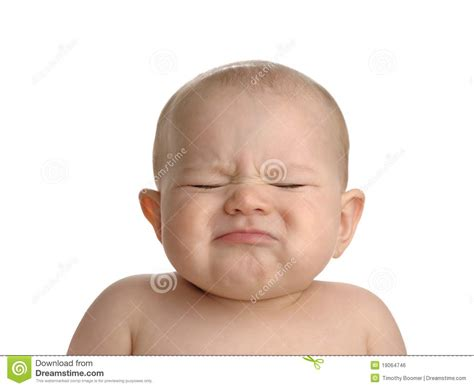 pouting baby isolated  white royalty  stock image