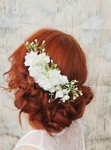 Wedding Hair Accessory White Flower Comb Bridal Hair