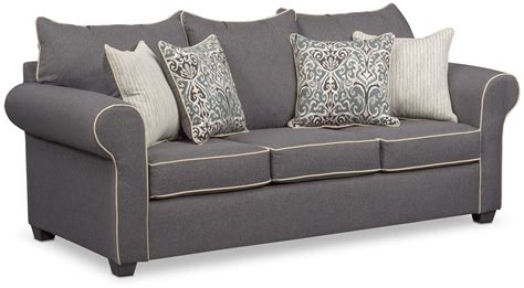 gray sofa and loveseat set carla sofa loveseat and accent chair set gray value
