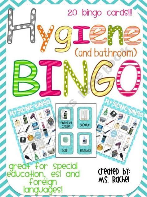 hygiene bingo teaching preschoolers  bathroom