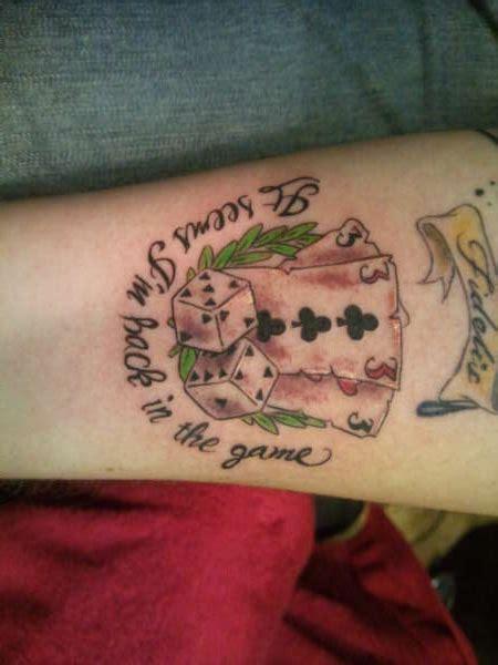 card dice tattoo