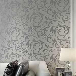 Aliexpress.com : Buy Luxury European Modern Leaf Wallpaper ...