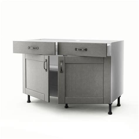 meuble bas cuisine 2 portes 2 tiroirs meuble de cuisine bas gris 2 portes 2 tiroirs nuage h 70
