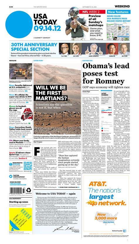 news today usa today newspaper redesign inewsdesign