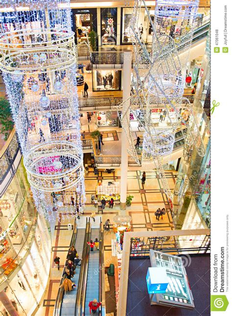 palladium shoping mall prague editorial stock photo