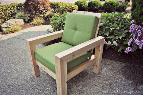 diy modern rustic outdoor chair ana white