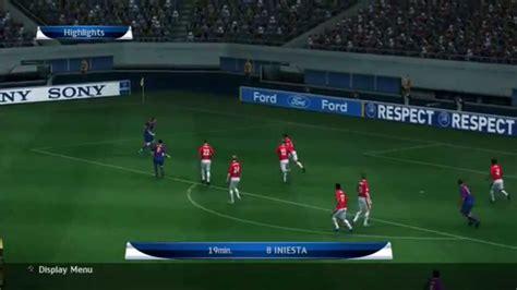 Pro Evolution Soccer 2010 Barcelona vs Manchester United ...