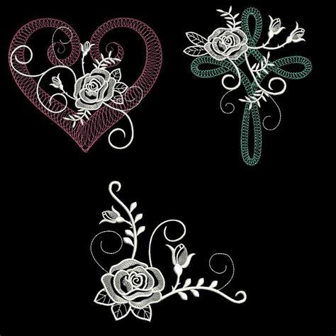 machine embroidery designs white 6 inch size 10 machine embroidery designs