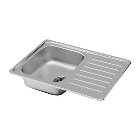 ikea stainless steel sink fyndig inset sink 1 bowl with drainboard stainless steel