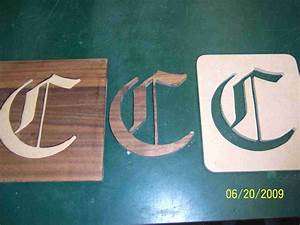 inlaid lettering router forums With router inlay letter templates