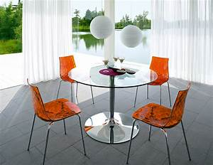 ICE Chairs and PLANET Dining Table by Calligaris