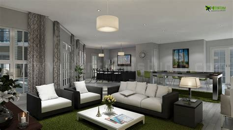 3d home interiors interiordesign rendering for house living room and