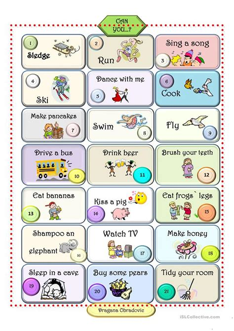 Can You Worksheet  Free Esl Printable Worksheets Made By Teachers