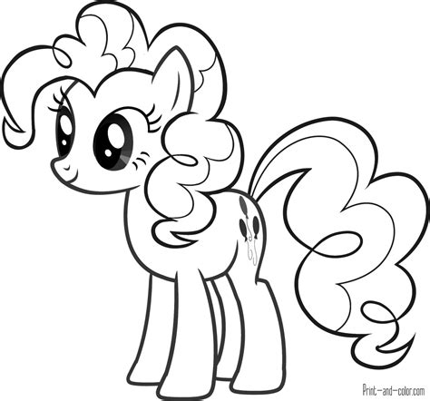 pony coloring pages print  colorcom