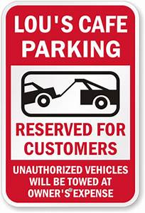custom reserved parking signs free shipping fast delivery With reserved parking signs template